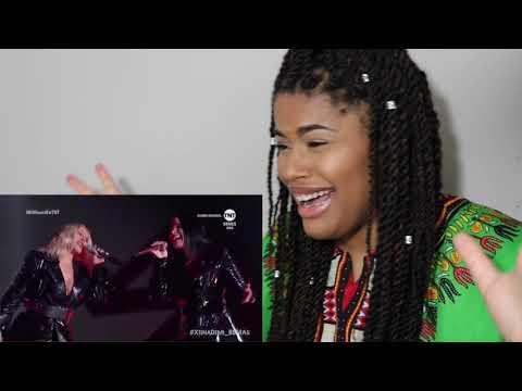 Christina Aguilera ft. Demi Lovato - Fall in Line Live // REACTION!!! mp3