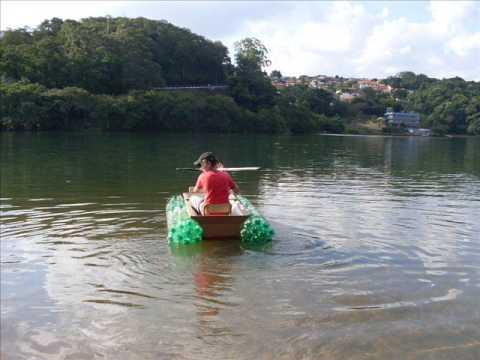Barco feito de garrafa pet Testado em Piraju SP