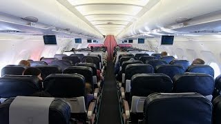 TURKISH AIRLINES A320-200 ECONOMY CLASS - FULL FLIGHT : IST - LUX