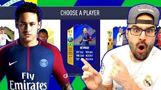 OMG 97 TOTS NEYMAR! MY HIGHEST RATED DRAFT! FIFA 18 Ultimate Team