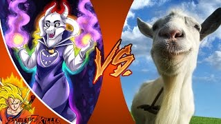 ASRIEL DREEMURR vs GOAT SIMULATOR (Undertale vs Goat Simulator) Cartoon Fight Club REACTIONS!!!