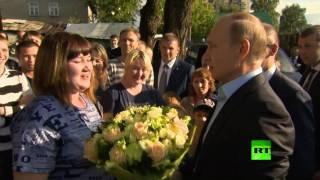 بوتين يزور مواطنة اشتكت له المسؤولين
