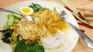Kanom Jeen Namya Recipe (Rice Noodles W/ Fish Curry) ขนมจีนนำ้ยา- Hot Thai Kitchen!