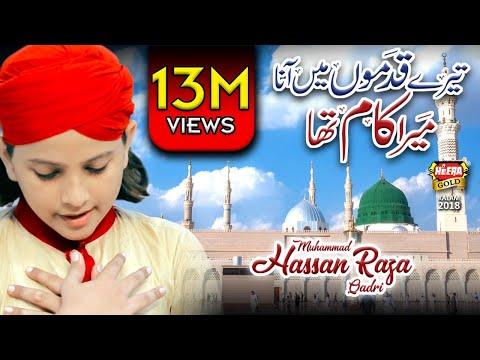 New Naat 2018 - Tere Qadmo Mai - Muhammad Hassan Raza Qadri - Naat Sharif - Heera Gold - 2018