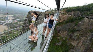Chaina Glass Suspension Bridge || Chaina Glass Suspension Bridge Historical Place Funn Enjoye Detail