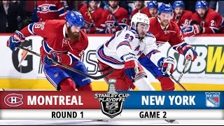 Montreal Canadiens vs New York Rangers   Round 1 Game 2   2017 Playoffs Highlights