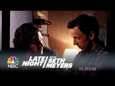 Xxx Mp4 Seth Brings Jon Snow To A Dinner Party Late Night With Seth Meyers 3gp Sex