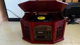 ทดสอบเครื่องเล่นแผ่นเสียง CD เทป วิทยุ วินเทจสวยคลาสสิค MODEL HS-555 สดจากญี่ปุ่น