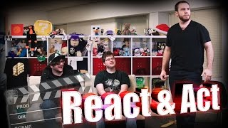 THE REACT AND ACT GAME! (LOCKED INSIDE MY CAR!?) /w Sky, Ross, and Barney!