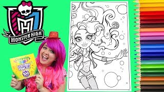 Coloring Monster High Lagoona Blue GIANT Coloring Book Page Colored Pencil | KiMMi THE CLOWN