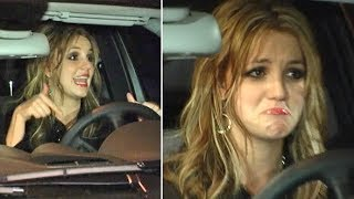 Britney Spears Stops Traffic When She Can't Start Her Car Outside Hollywood Nightclub [2006]