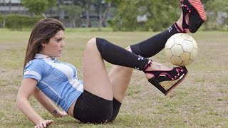 جنون الكرة النسائية ، فيديو مهارات و اهداف  HD