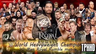 WWE Royal rumble 2016 Match - WWE Royal Rumble 2016 30 man