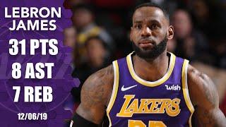 LeBron James drops 31 points, helps courtside vendor vs. Blazers | 2019-20 NBA Highlights