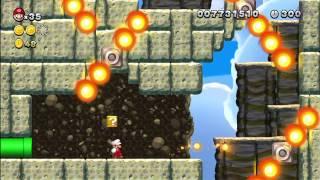 Superstar Road-6 Fire Bar Cliffs [New Super Mario Bros Wii U]