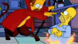 The Simpsons Homer meets the devil