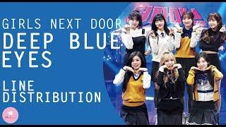 girls next door - deep blue eyes  line distribution
