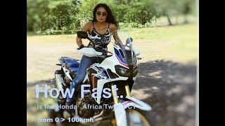 How fast is the Honda Africa Twin CRF 1000L DCT from 0 to 100kmh (60mh)