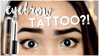 PEEL OFF EYEBROW TATTOO?! IT WORKS?! ✘ Etude House Tint My Brows Gel First Impression Review