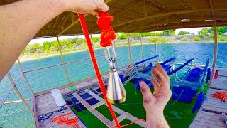 MAGNET FISHING UNDERWATER FOOTAGE WITH A 1000 LB PULL MAGNET!!!