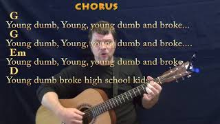 Young Dumb & Broke (Khalid) Fingerstyle Guitar Cover Lesson in G with Chords/Lyrics - G Em D