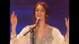 Muslim Russian pop singer sati kazanova rechanting sanskrit slokas.