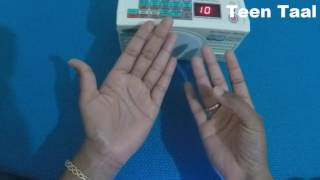 Kathak Teen Taal : How to theka on hand for beginners