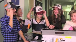 Unboxing YAP Caps with cast of Cheerleaders in the Chess Club - Young Actors Project