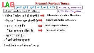 Present Perfect Tense (Hindi)
