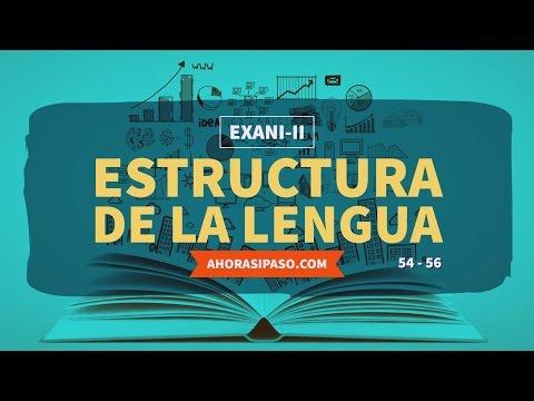 Guía EXANI-II   Estructura de la lengua (54, 55 y 56)