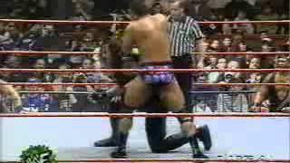 wwf wwe raw   the undertaker vs the rock on raw 1997