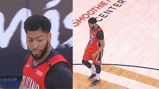 Anthony Davis Fakes Injury? Suffers Shoulder Injury & Leaves The Game! Thunder vs Pelicans