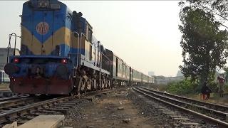 (Full HD) Silk City Express Train (সিল্কসিটি এক্সপ্রেস ট্রেন) departing Kamlapur Railway Station