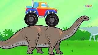 Monster Truck In Dinosaur Land | Adventure And Stunts | Video For Kids