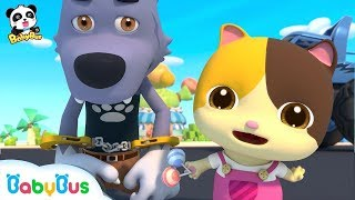 Baby Kitten Catches Big Bad Wolf   Super Panda Rescue Team   Monster Cars   Kids Song   BabyBus