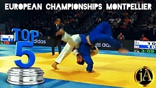 TOP 5 IPPONS | European Championships Montpellier 2014 | JudoAttitude