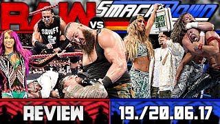 WWE RAW vs. SmackDown Review - ENZO CASSIERT! - 19./20.06.17 (Deutsch/German)