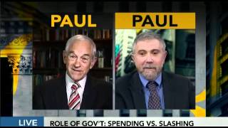 Ron Paul vs. Paul Krugman on The Fed & interview Bloomberg TV 4/30/12