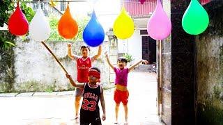 Kids Go Home By Car Games for Children   Kids Play Blindfold Break Water balloons ✿ Songs for Kids