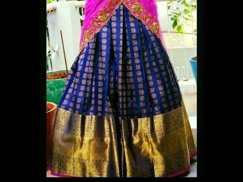 latest kanchi pattu half sarees designs