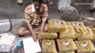 Milk Cake   Indian Sweet Preparation   Kolkata Street Food   Very Tasty Indian Sweet 2017