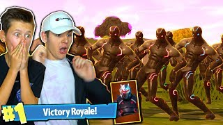 SQUAD FULL OF *OMEGA SKINS* IN FORTNITE! THIS SKIN IS INSANE! EASY FORTNITE WINS! | David Vlas
