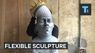 This sculpture of The Notorious B.I.G stretches almost as far as his legacy