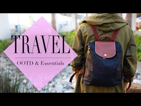 What s In my Travel Backpack OOTD & Essentials ANN LE