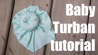 No machine! Baby Turban Hat sewing tutorial