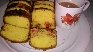 Plain And Fruit Butter Cake by king chef shahid jutt
