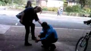 Dan Batterton kissing charlottes feet haha