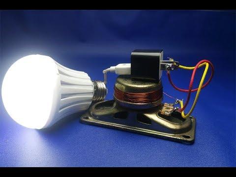 220v light bulb Free Energy with speaker