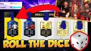 LUSTIGSTER FREUNDIN FUT DRAFT EVER😱😂 ROLL THE DICE CHALLENGE + BESTRAFUNG!! FIFA 17  (Deutsch)