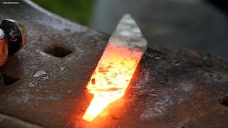 Making a Viking Seax from a Pruning Shear- Part 1 (Forging)